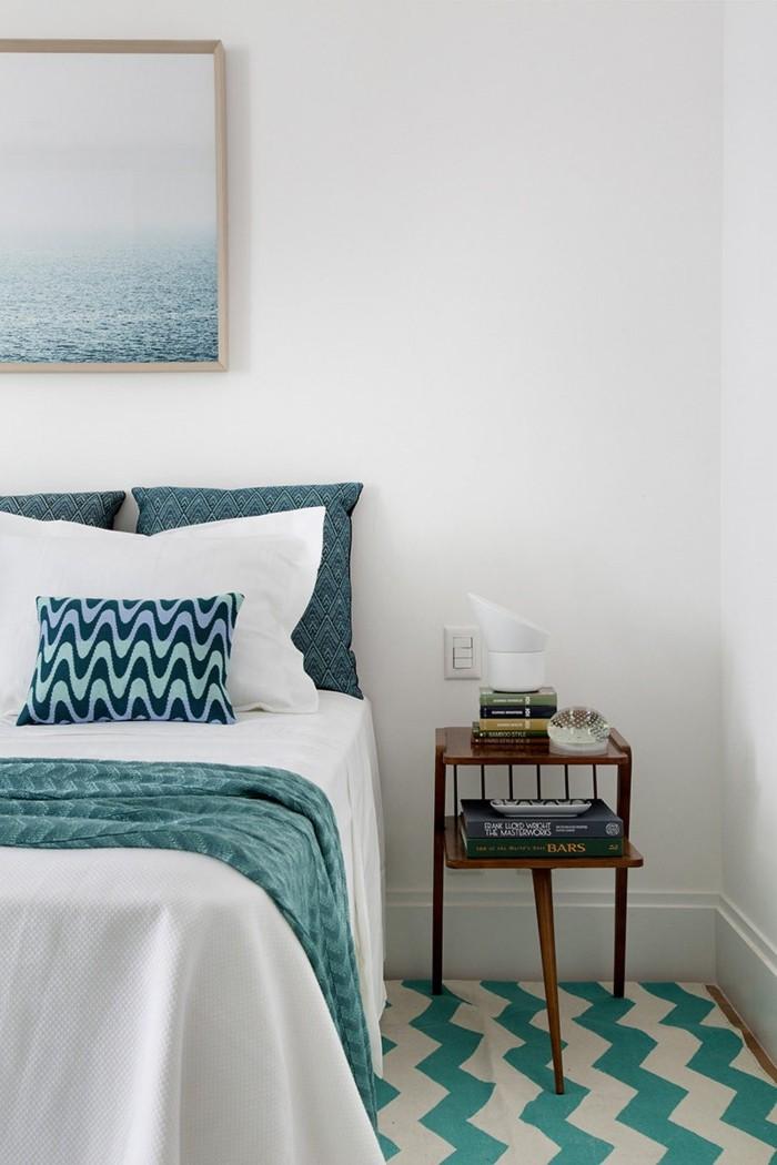 wohnideen schlafzimmer grüne akzente und wunderbare motive