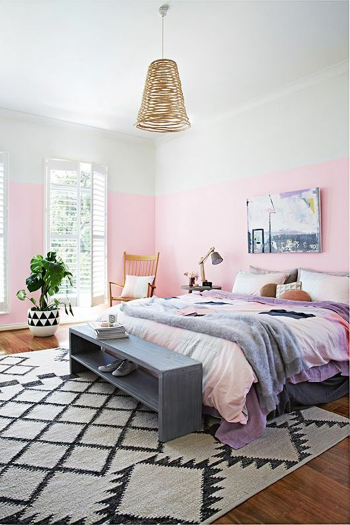 schlafzimmer in grau-rosa | roomido ? timeschool.info - Wohnzimmer Grau Weis Rosa