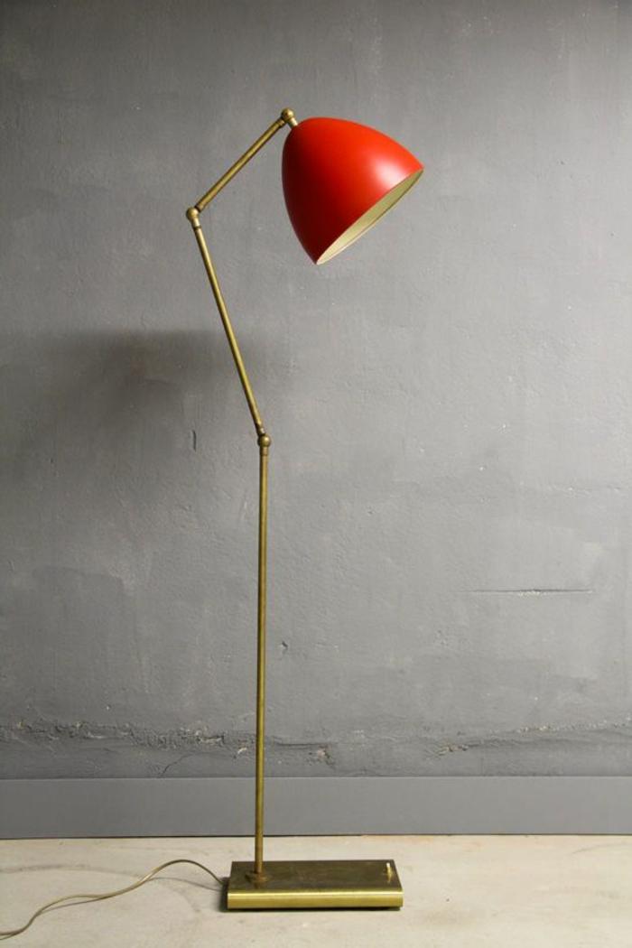 wohnraumleuchten originelle tischlampe lampenschirm rot
