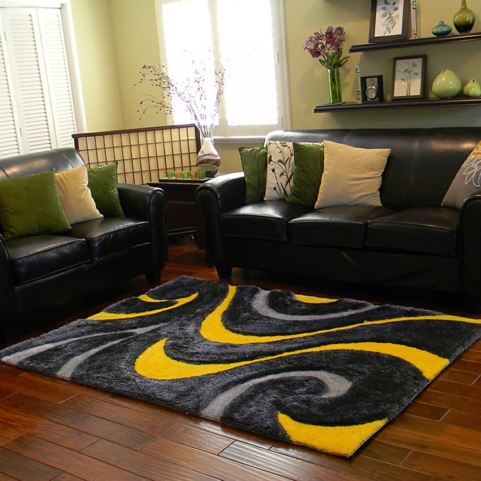 wohnzimmer einrichten grau schwarz | wohnzimmer ideen - Teppich Wohnzimmer Design