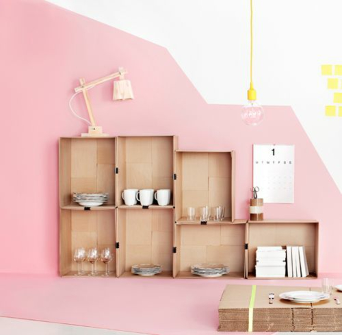 farbgestaltung ideen für ein strahlendes zuhause - Rosa Wandfarbe Wohnzimmer