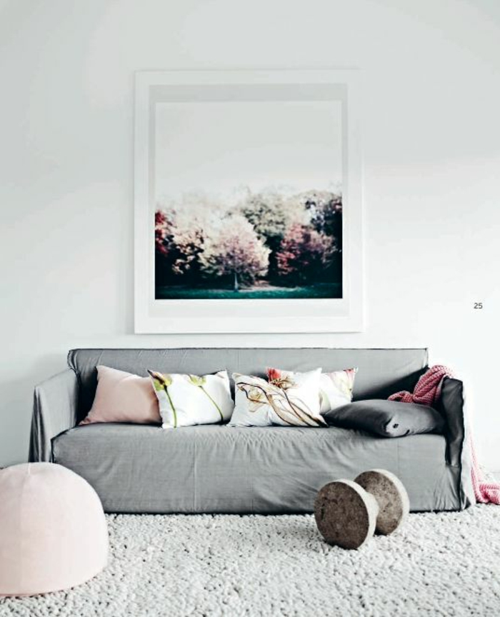 wohnzimmer altrosa:wohnzimmer altrosa : wohnzimmer gestalten farbe wandfarbe weiß grau