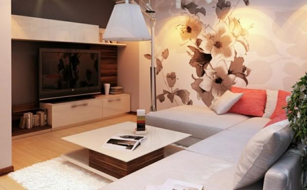 Wanddekoration Wohnzimmer Beispiele Frische Farben Und Coole Tapetenmuster Freshideen
