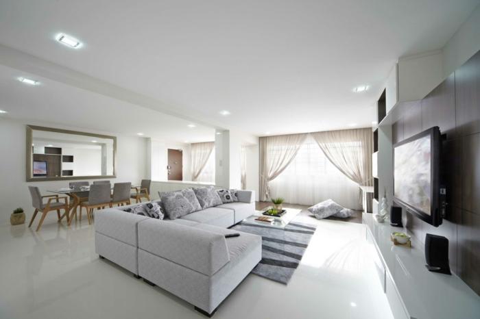zimmer einrichten beleuchten deckenbeleuchtung wohnzimmer