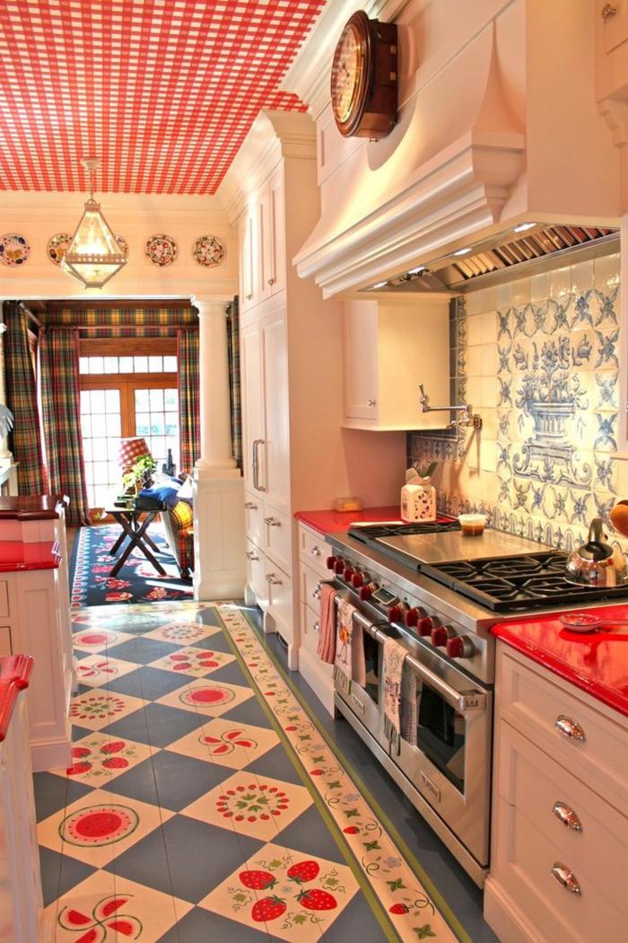zimmerdecken küche farbige decke krasse akzente