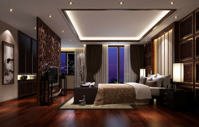 zimmerdecken schlafzimmer luxuxriöses innendesign abgehängte decke