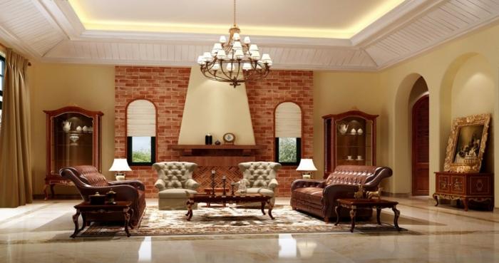 zimmerdecken wohnzimmer abgehängte decke led beleuchtung