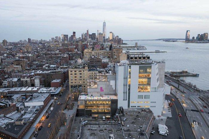 Architektin über whitney museum NY manhatten