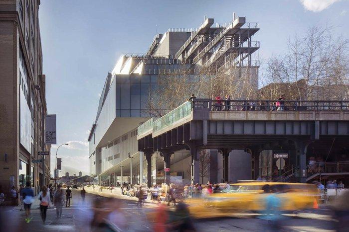 Architektin über whitney museum NY morgens