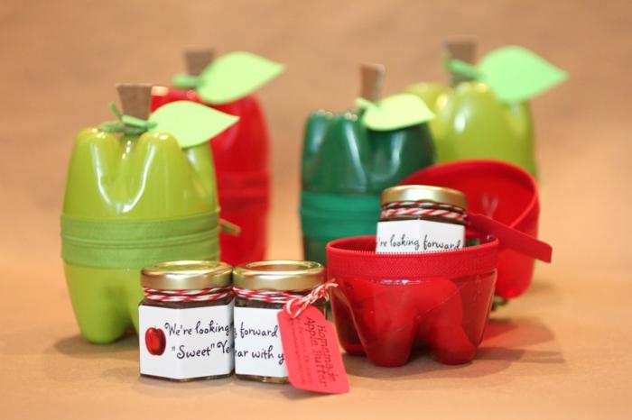 Upcycling Ideen Basteln mit Pet Flaschen dosen