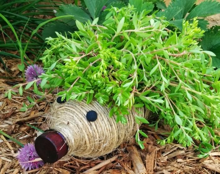 Upcycling Ideen Basteln mit Pet Flaschen igel