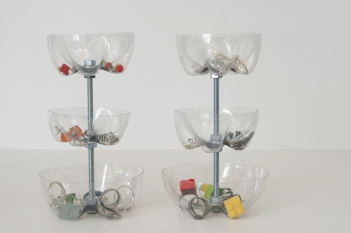 Upcycling Ideen Basteln mit Pet Flaschen schale