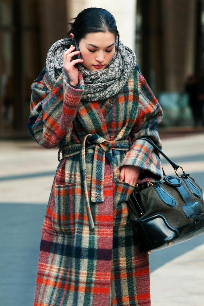 Brillen Mode winter mantel schal