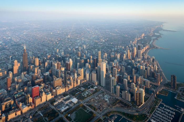 Chicago Sehenswürdigkeiten downtown vogelperspektive architekturbiennale