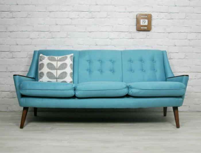 Dänisches Design blaues sofa hygge stil