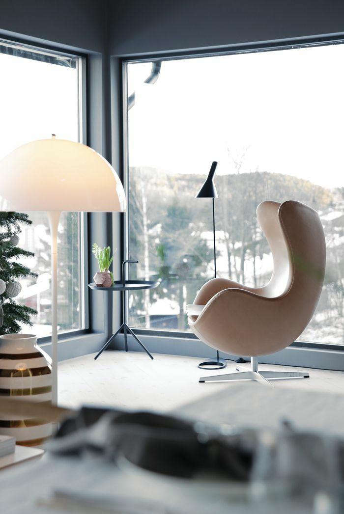 Dänisches Design wohnung im hygge stil egg chair