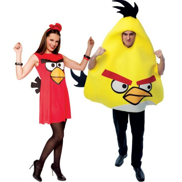Halloween Kostüme selber machen angry birds