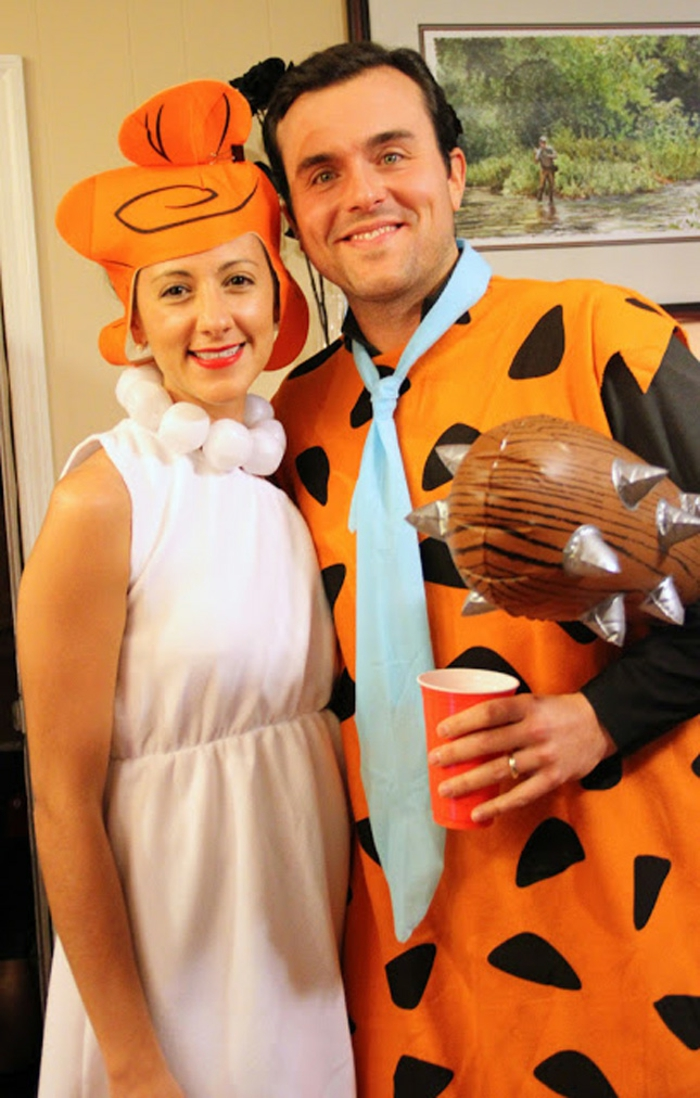 Halloween Kostüme selber machen für paare fred und wilma