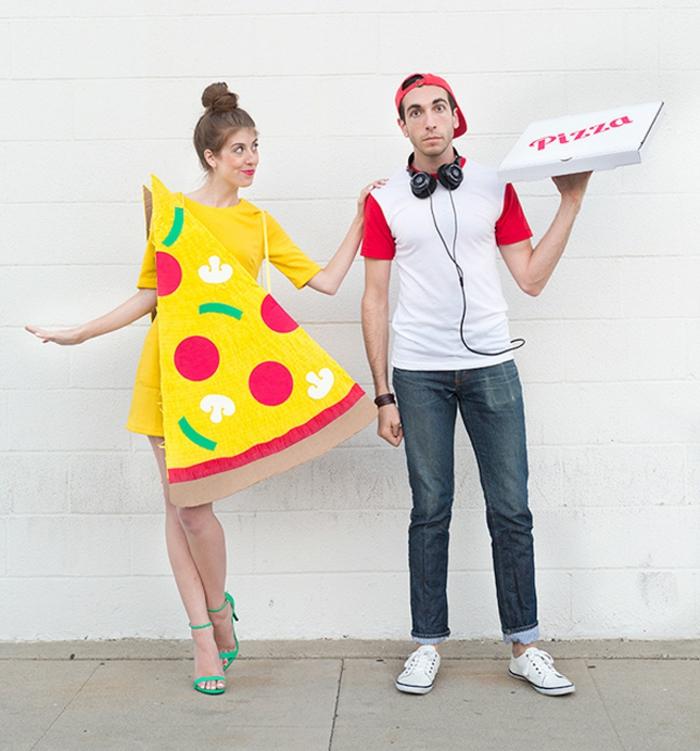 Halloween Kostüme selber machen pizza