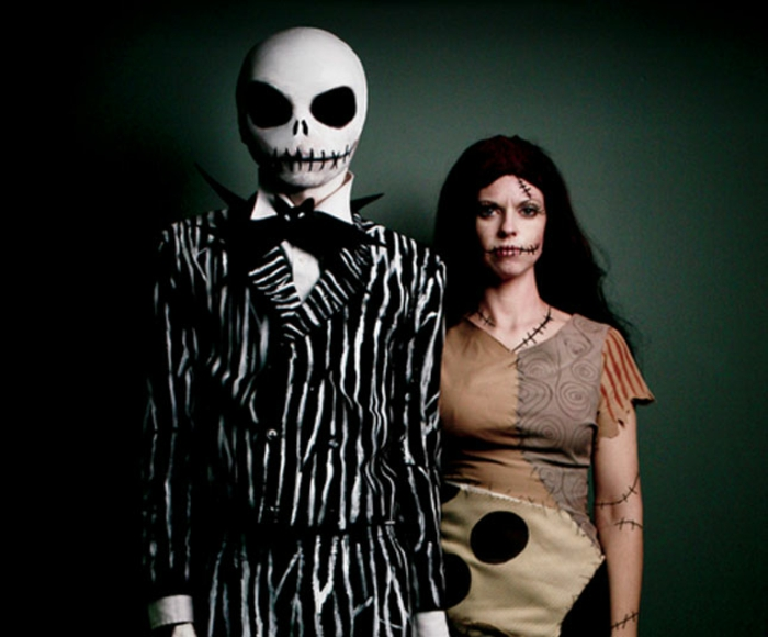 Halloween Kostüme selber machen skeletten
