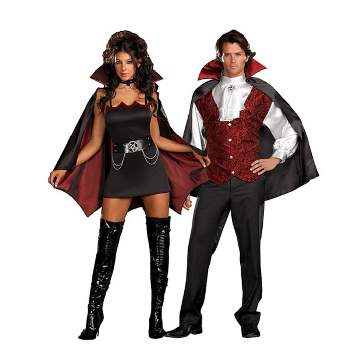 Halloween Kostüme selber machen vampir kostüme