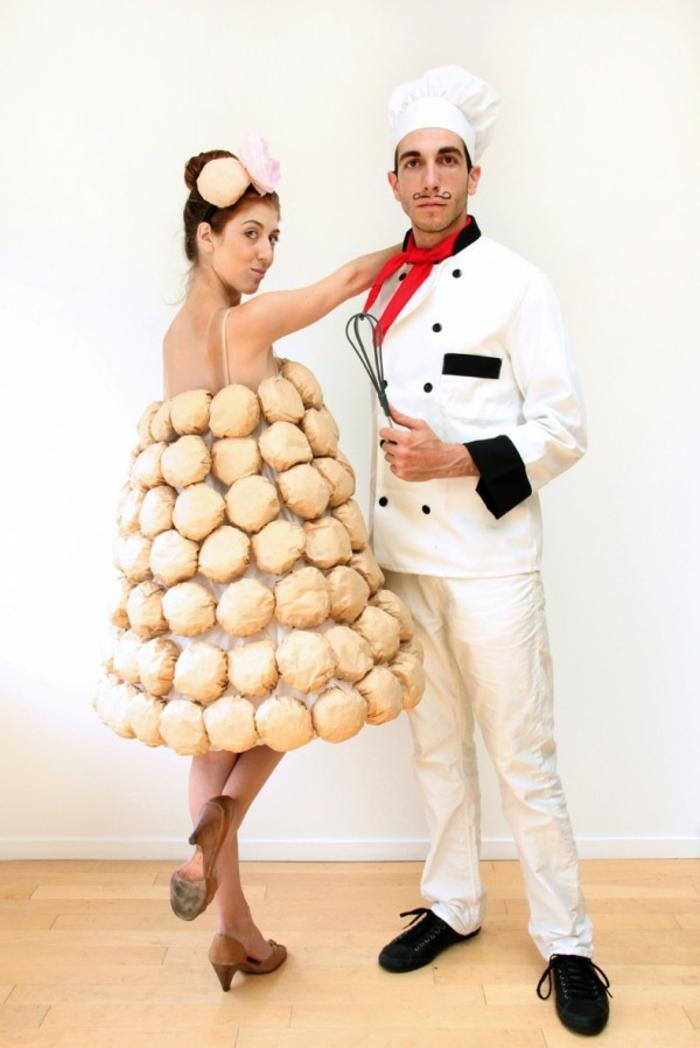 Halloween Kostüme selber machen zu zweit bäcker und brot