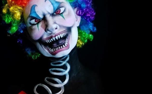 Halloween-Make-up-ideen-Nikki-Shelley-clown-gesicht