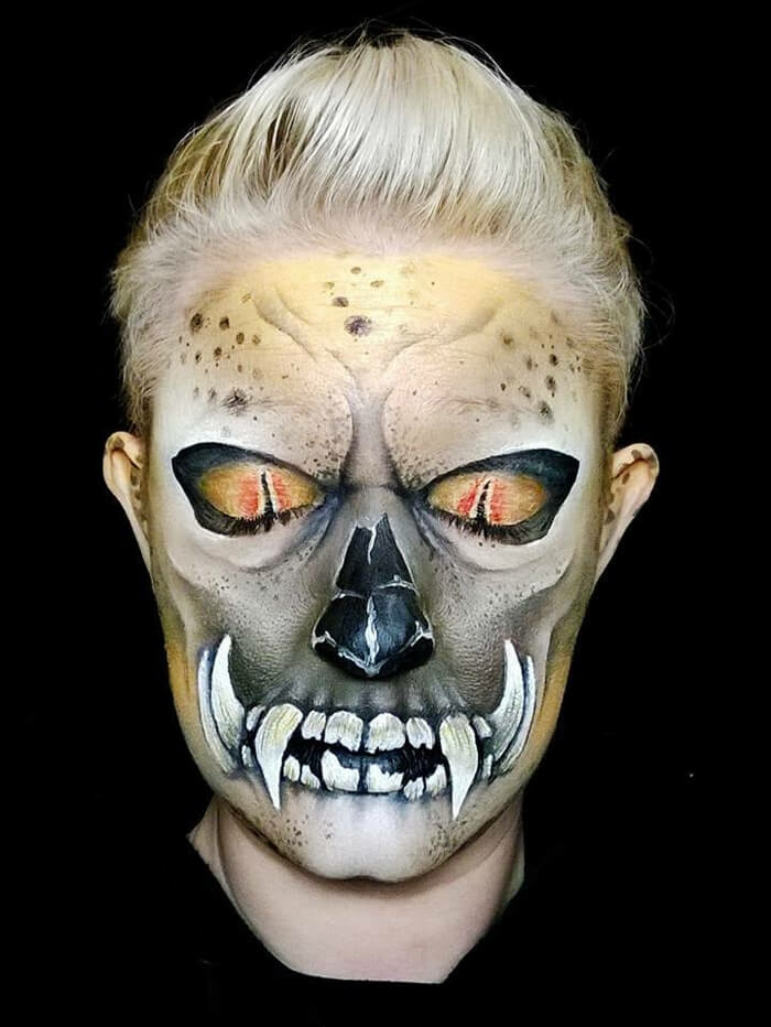 Halloween Make up ideen Nikki Shelley wildkatze gesicht