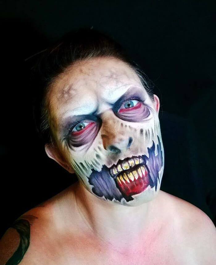 Halloween Make up ideen Nikki Shelley zombie schminken