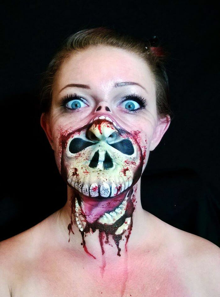 Halloween Make up ideen Nikki Shelley