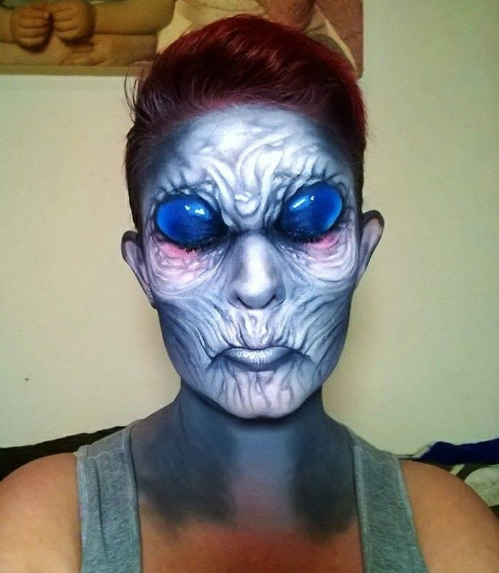 Halloween Make up ideen grusellige schminktipps Nikki Shelley
