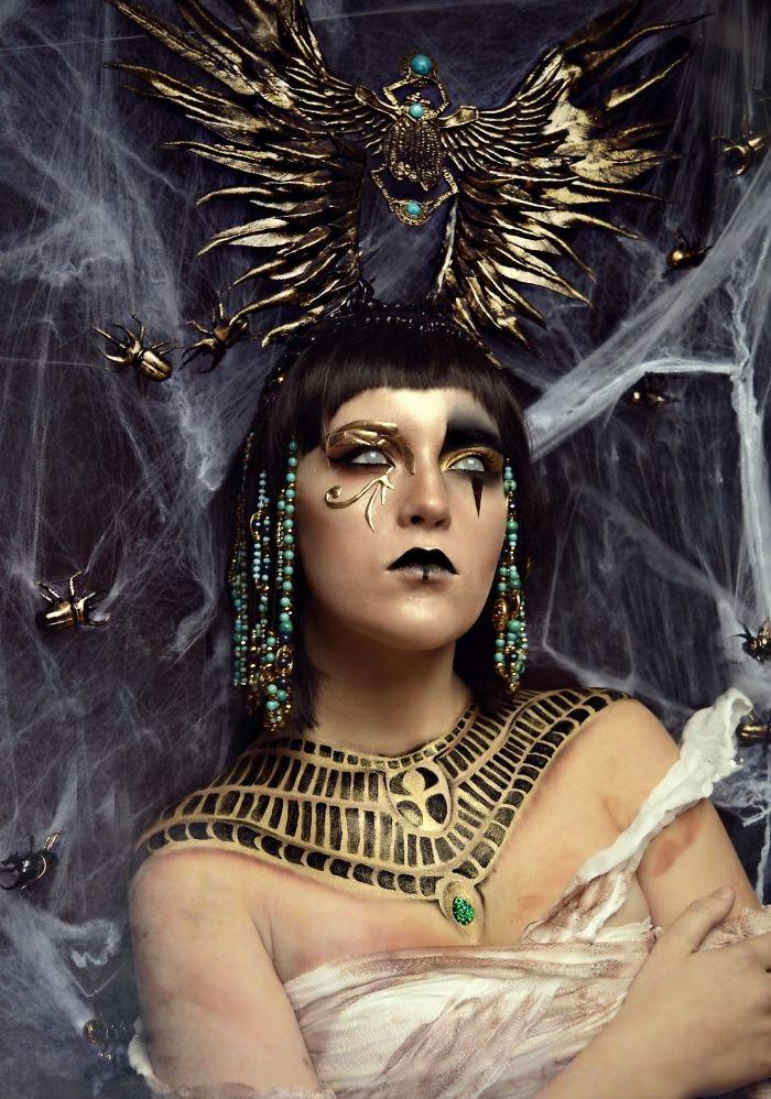 Halloween Schminkideen von Joyce Spakman ägyptischer einfluss