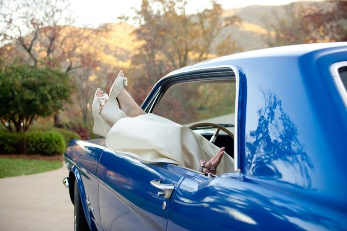 Hochzeit planen brauch etwas blaues auto