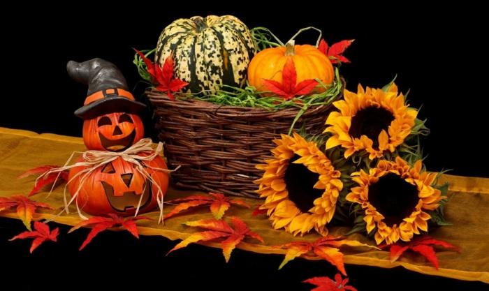 Ideen für Halloween deko halloween geschichte kuerbislaterne basteln