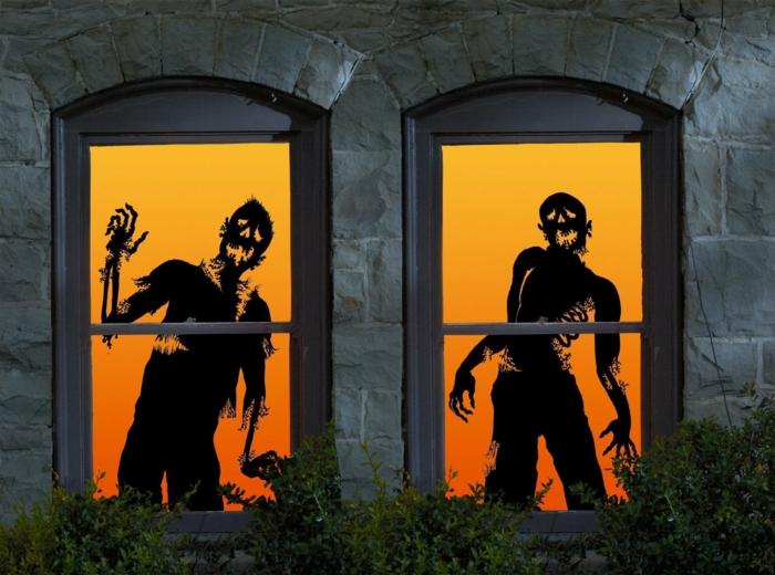 Ideen für Halloween fenstergedoens