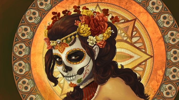 Ideen für Halloween mexiko Ideen für Halloween deko halloween geschichte kuerbislaterne basteln
