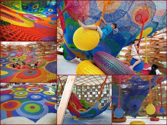 Künstlerin Toshiko Horiuchi Mac Adam kinderspielplatz aus strickwaren