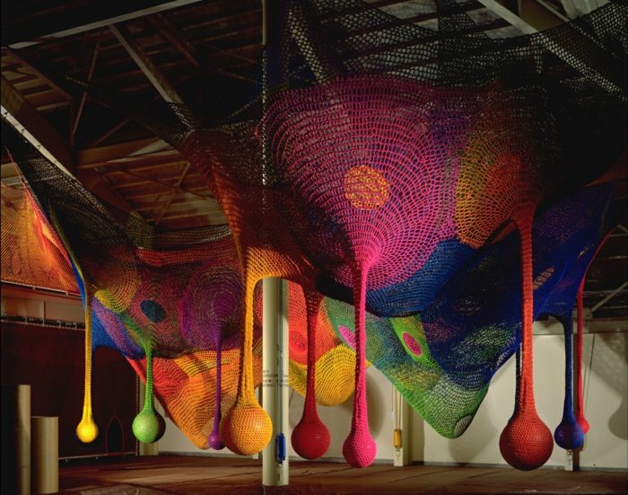 Künstlerin Toshiko Horiuchi Mac Adam kinderspielplatz strickwaren zum spielen