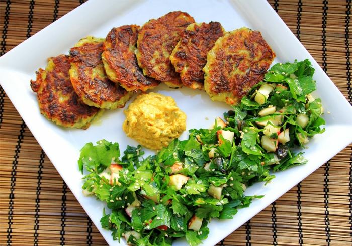 Kürbisrezept kürbisrösti kürbisrezepte mit salat