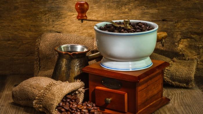 Kaffee mühle jutesack