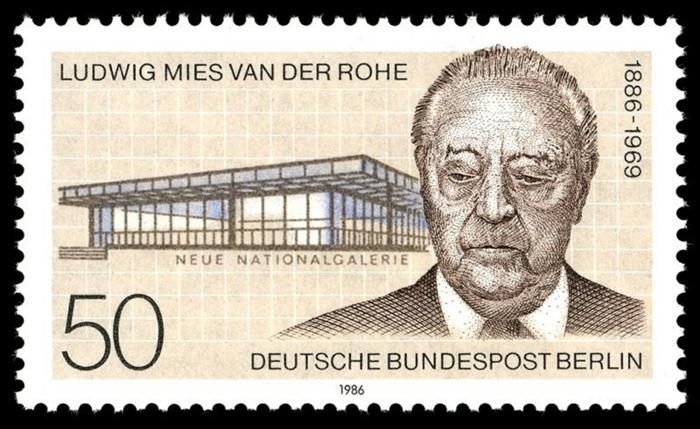 Ludwig Mies van der Rohe briefmarke deutsche post