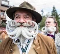 Männer mit Bart auf der Bart WM 2015 in Österreich