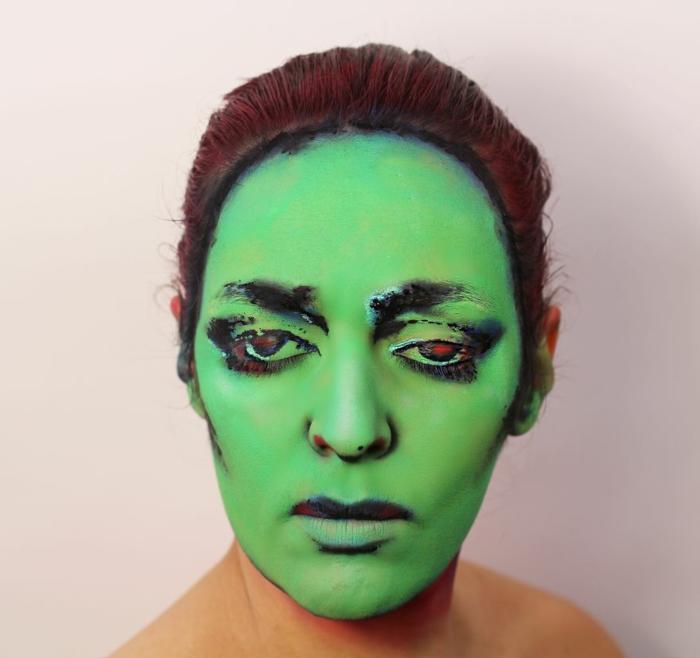 Natalie Sharp album cover annette peacock gesicht schminken