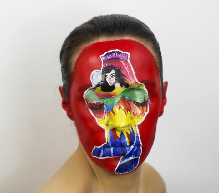 Natalie Sharp album cover bjork volta gesicht schminken