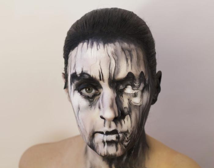 Natalie Sharp album cover peter gabriel gesicht schminken