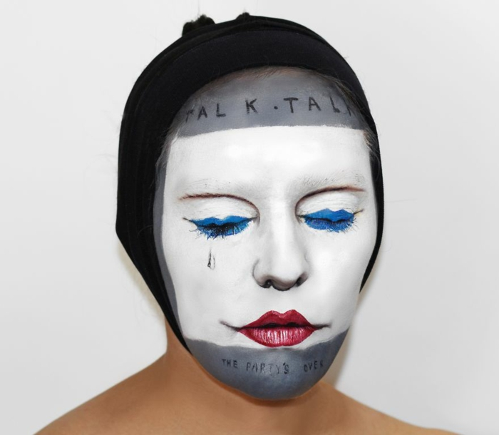 Natalie Sharp album cover talk talk gesicht schminken