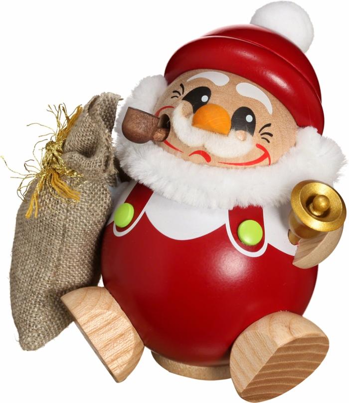 Raeuchermaennchen Kugelraeucherfigur Nikolaus Weihnachtsdekoration online shop Weihnachtsdeko aus Holz