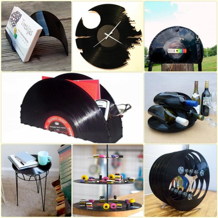 Kreative bastelideen mit schallplatten die leicht zu realisieren sind - Deko ideen diy ...