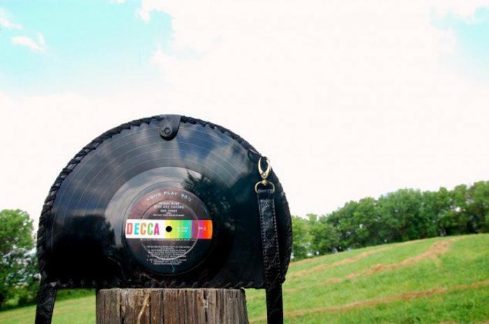 Schallplatten Bastelideen tasche selber machen diy projekte