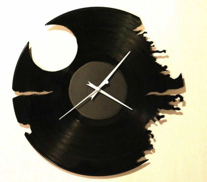 Schallplatten Bastelideen wanduhr machen diy projekte